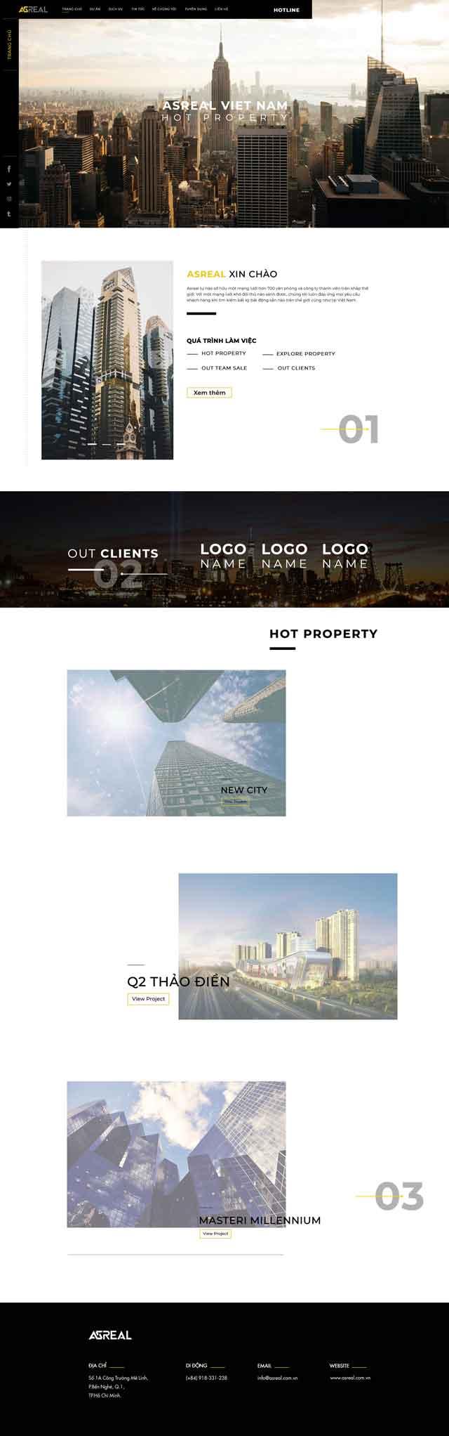 Thiết kế website BDS Vananland
