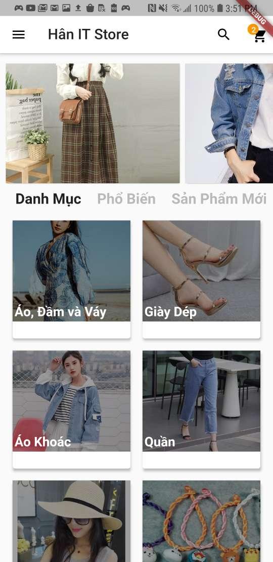 Thiết kế Mobile App Hân Store